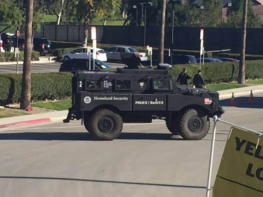 A Homeland Security vehicle parked outside of Levi's Stadium before Super Bowl 50 Photo: Al Saracevic / San Francisco Chronicle