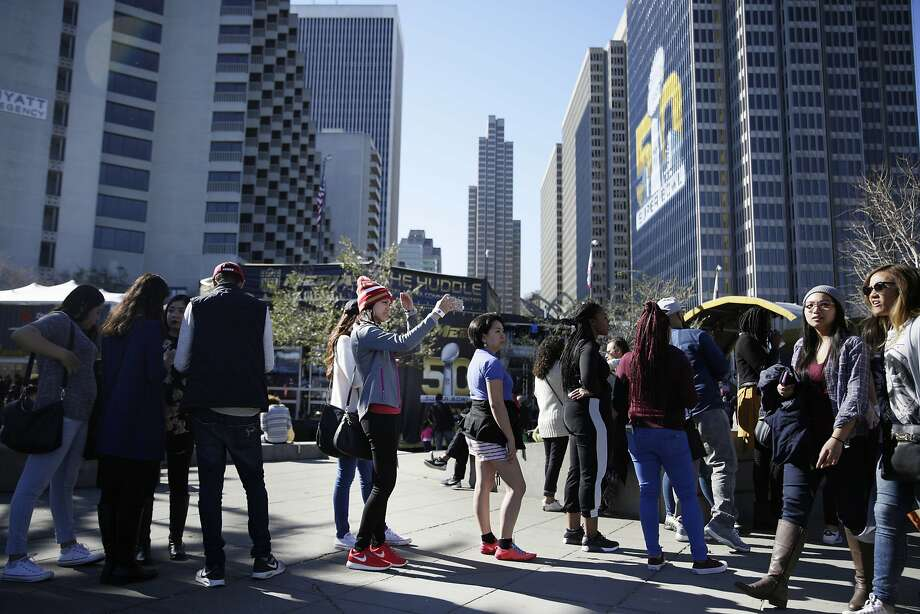 The city's tourism agency says that Super Bowl 50 helped generate more than $8.2 million in hotel taxes, and that hotel occupancy was at 90.7 percent Feb. 6. Photo: Lea Suzuki, The Chronicle
