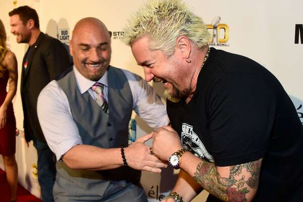 SAN FRANCISCO, CA - FEBRUARY 03:  Host Jay Glazer and chef Guy Fieri attend Glazer Palooza and Suits and Sneakers on February 3, 2016 in San Francisco, California.  (Photo by Frazer Harrison/Getty Images for Glazer Palooza)