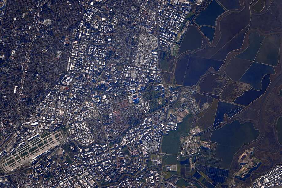 A shot of the Super Bowl from space, taken by astronaut Scott Kelly. Photo: Scott Kelly