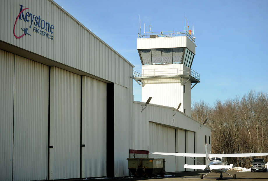 """The control tower at Oxford Airport on Sunday, February 7, 2016. Nick Tramontano, known to some as the """"mayor"""" of Oxford Airport, was killed in a plane crash with former Sikorsky president Jeffrey Pino in Arizona on Friday in a World War 2 era P-51 Mustang fighter plane owned by Pino. Photo: Brian A. Pounds / Hearst Connecticut Media / Connecticut Post"""
