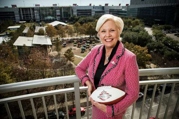 Sallie Sargent, president and CEO of the Houston Super Bowl organizing committee, says she is consumed by her work to bring the massive 10-day spectacle together in her adopted city.