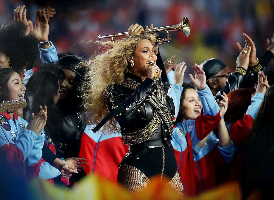 Beyonce performs during the Pepsi Super Bowl 50 Halftime Show at Levi's Stadium on February 7, 2016 in Santa Clara, California.  (Photo by Patrick Smith/Getty Images) Photo: Patrick Smith, Getty Images