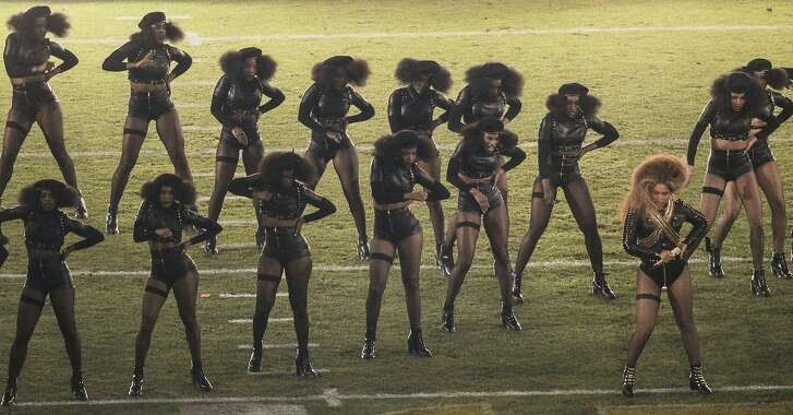 Beyonce performed during the Halftime Show at Super Bowl 50 between the Carolina Panthers and the Denver Broncos at Levi's Stadium on Sunday, Feb. 7, 2016 in Santa Clara, Calif.