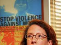 Times Union staff photo by John Carl D'Annibale:   Amy Barasch, Esq., executive director NYS Office fir the Prevention of Domestic Violence in her office in Colonie Wednesday July 9, 2008.  FOR GAVIN CAPITOL PROFILE STORY