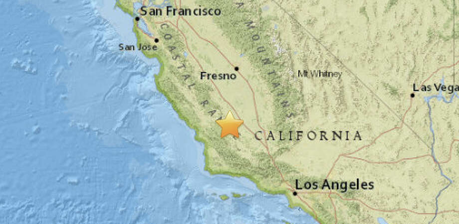 An earthquake with preliminary magnitude of 3.8 struck in Central California on Sunday, Feb. 7, 2016. Photo: USGS