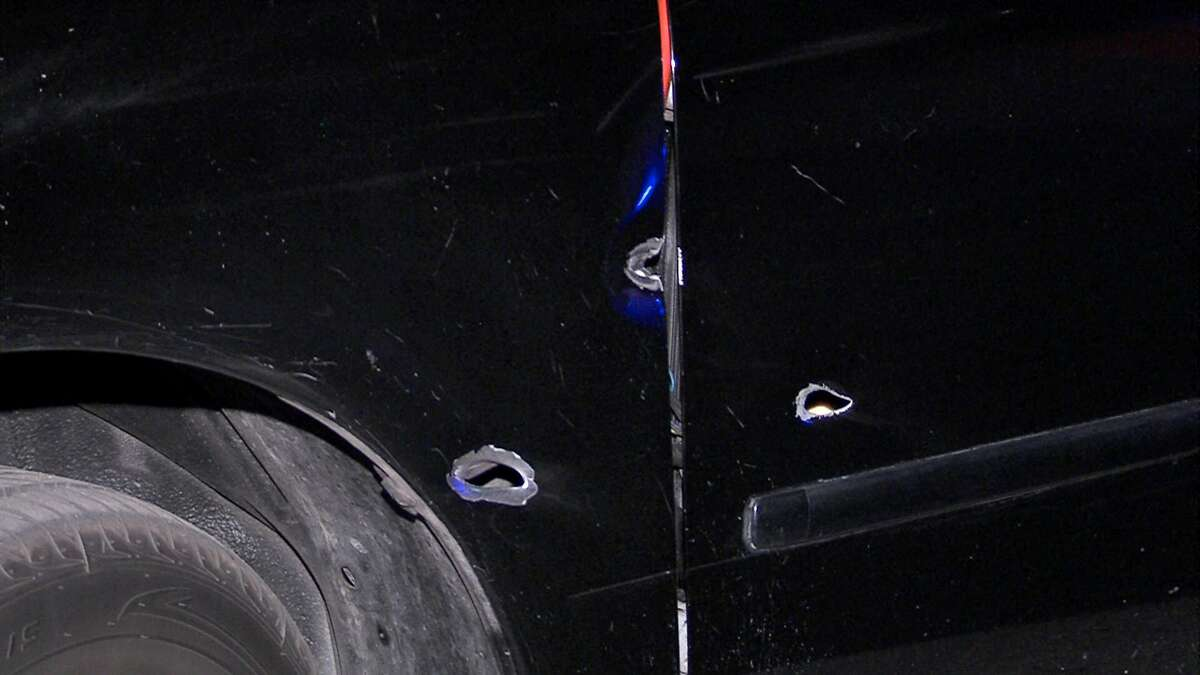 Two men were injured Monday morning when gunmen opened fire on them on the East Side.