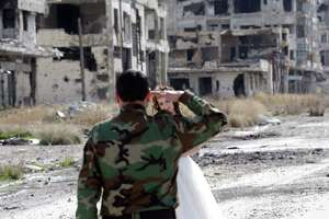 Eye-opening wedding photos in bombed-out Syrian city - Photo