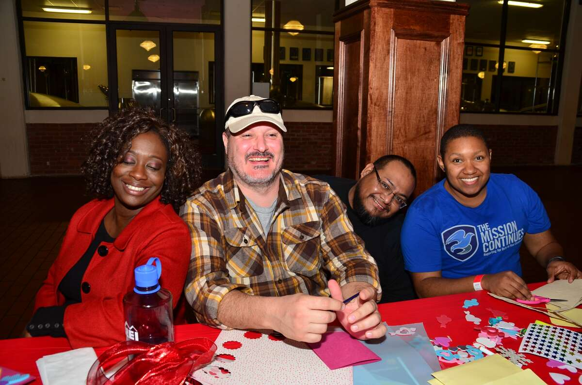 The Houston community bonded together as they made valentines.