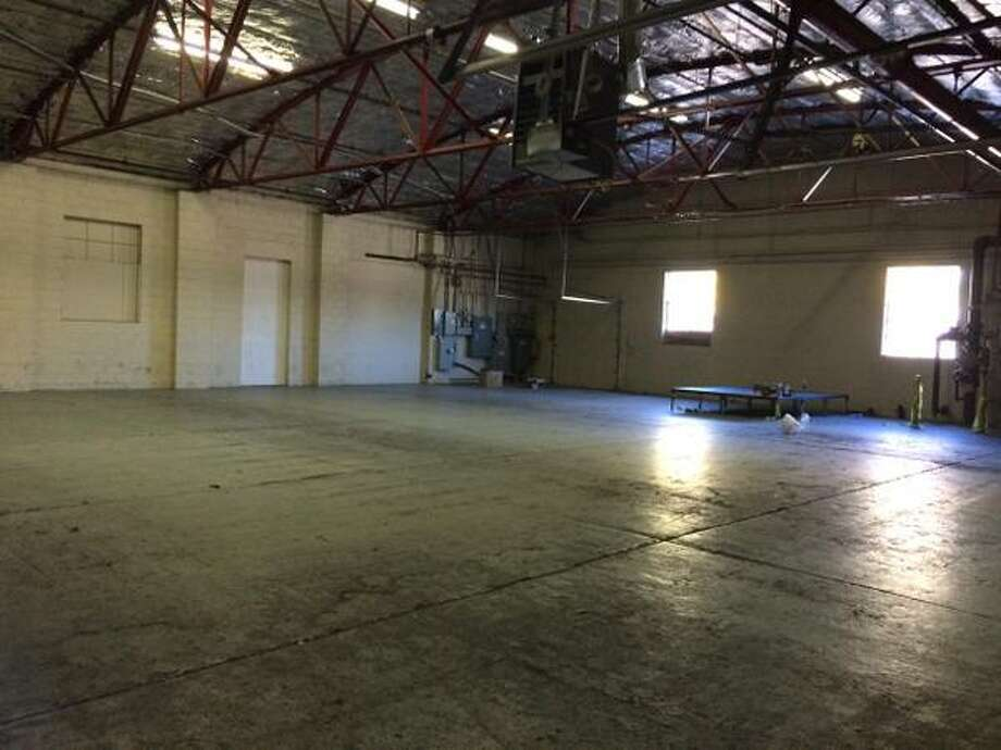The inside of a warehouse at 20 Railroad Ave., Colonie, where police said they had to disperse hundreds of University at Albany students Oct. 10, 2015 who had attended an unsanctioned party. (Lauren Stanforth/Times Union)