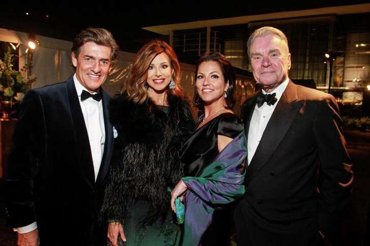 Nick Florescu and Dominique Sachse, from left, with Jessica Rossman and Gordon Bethune at the Discovery Green gala.  (For the Chronicle/Gary Fountain, February 6, 2016)