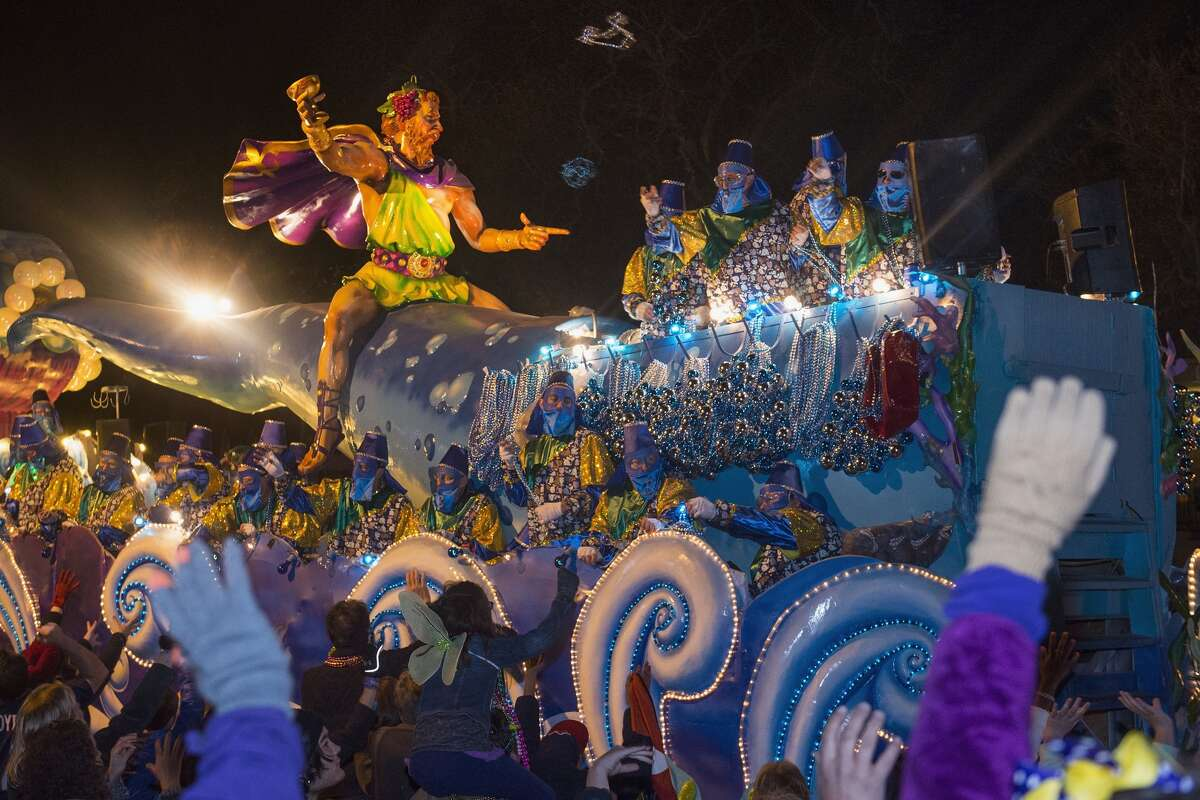 NEW ORLEANS, LA - FEBRUARY 07: The 2016 Krewe Of Bacchus parade takes place along the traditional Uptown parade route on February 7, 2016 in New Orleans, Louisiana. See the following slides for photos at last year's festivities in New Orleans.