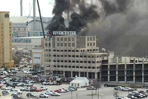 San Antonio fire crews respond to fire at parking garage of Shops at Rivercenter - Photo