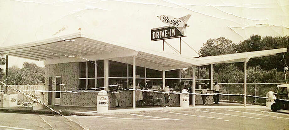 """A new book, """"Lost Restaurants of Fairfield,"""" showcases dining spots from the town's past, including the futuristic Rockets Drive-In, which stood on the Black Rock Turnpike site where Tomato & Basil restaurant is today. Photo: Gary Zemola / Contributed Photo / Connecticut Hearst Media"""