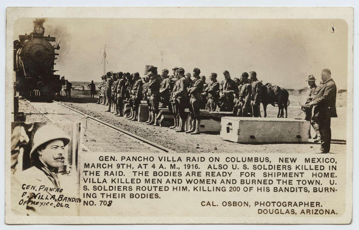 Gen. Pancho Villa Raid on Columbus, New Mexico, March 9th, at 4 A.M., 1916.