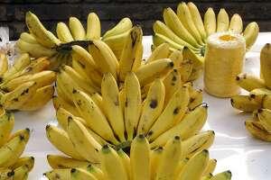 Bananas at the weekly street market in La Condesa.