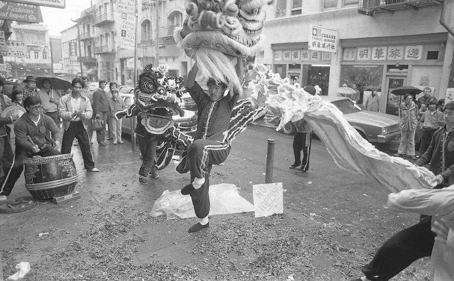 Chinese New Year celebration in S.F.'s Chinatown in   February 1984. Photo: Steve Ringman, The Chronicle