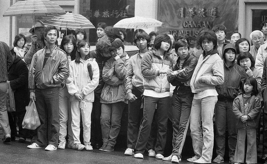 Chinese New Year celebration in S.F.'s Chinatown,  February 1984. Photo: Steve Ringman, The Chronicle