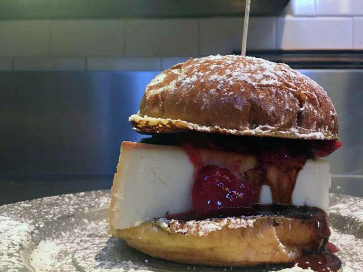 The Original Cheesecake Sandwich is served at Katz's Deli.