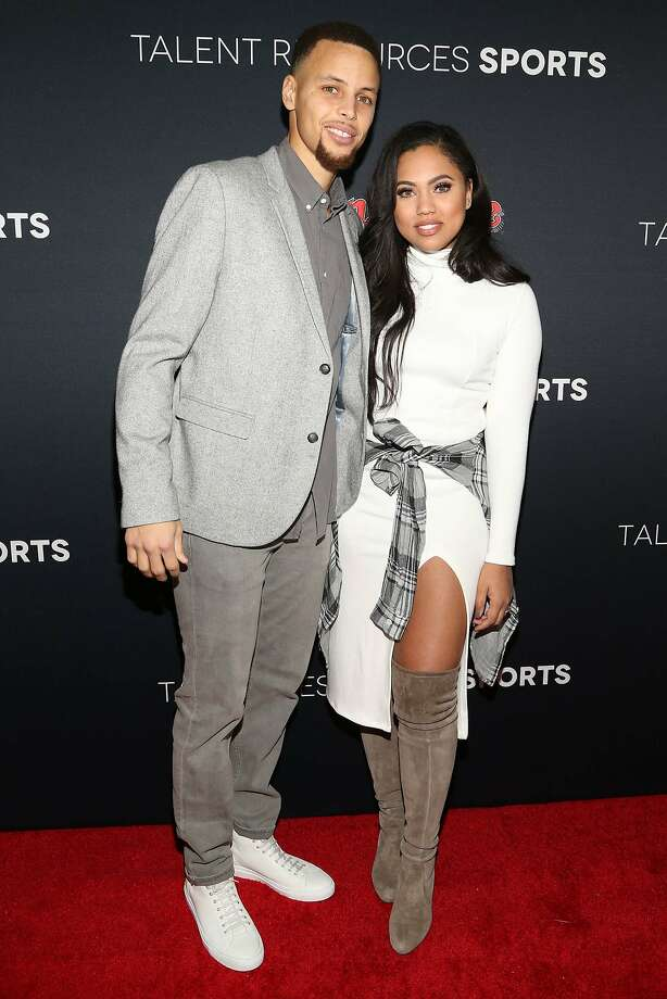 Stephen Curry and Ayesha Curry arrive at the Super Bowl 50 Rolling Stone Party at The Galleria at the San Francisco Design Center on Saturday, Feb. 6, 2016, in San Francisco. (Photo by Omar Vega/Invision/AP) Photo: Omar Vega, Associated Press