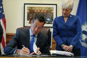 "Malloy in Stamford Thursday night for first ""Town Hall."" - Photo"