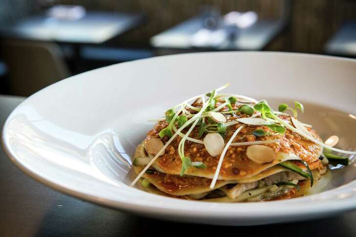 Chef Edel Gonçalves displays his Portuguese roots with a pork-belly-and-clams pasta dish.