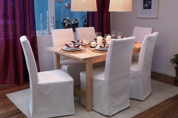 IKEA's Norden extendable table in birch ($299, ikea.com).
