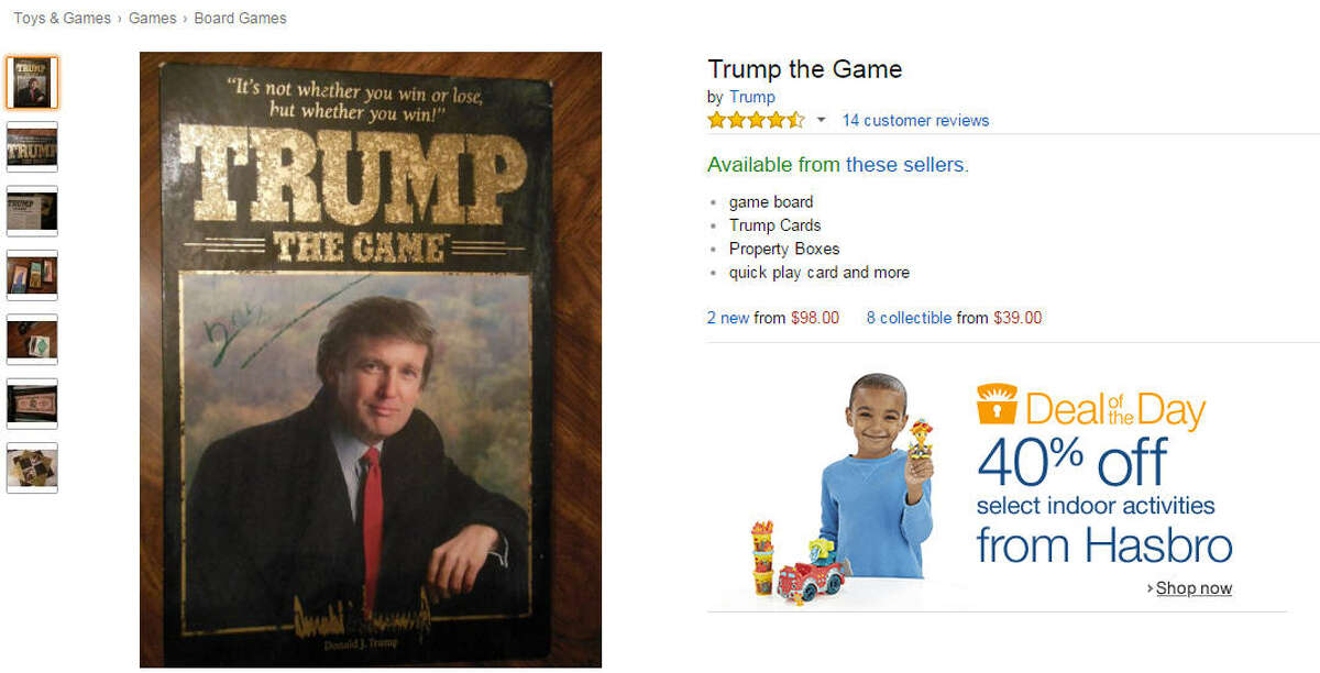 Who would have guessed that the winner of TRUMP: The Game is the one who makes the most money? The board game tied to his TV show 'The Apprentice' had several iterations over the years, although you'd be hard-pressed to find it sold anywhere other than eBay these days. As Mother Jones notes, only three to four players can play at once so it's a