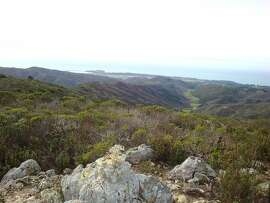 From a rock outcrop, at 1,600 feet near the south ridge of Montara Mountain, you get this view across coastal valleys, ridges, Pillar Point Harbor and the San Mateo Coast. It is the newest major addition to the Golden Gate National Recreation Area, but few know how to access its 3,858 acres.