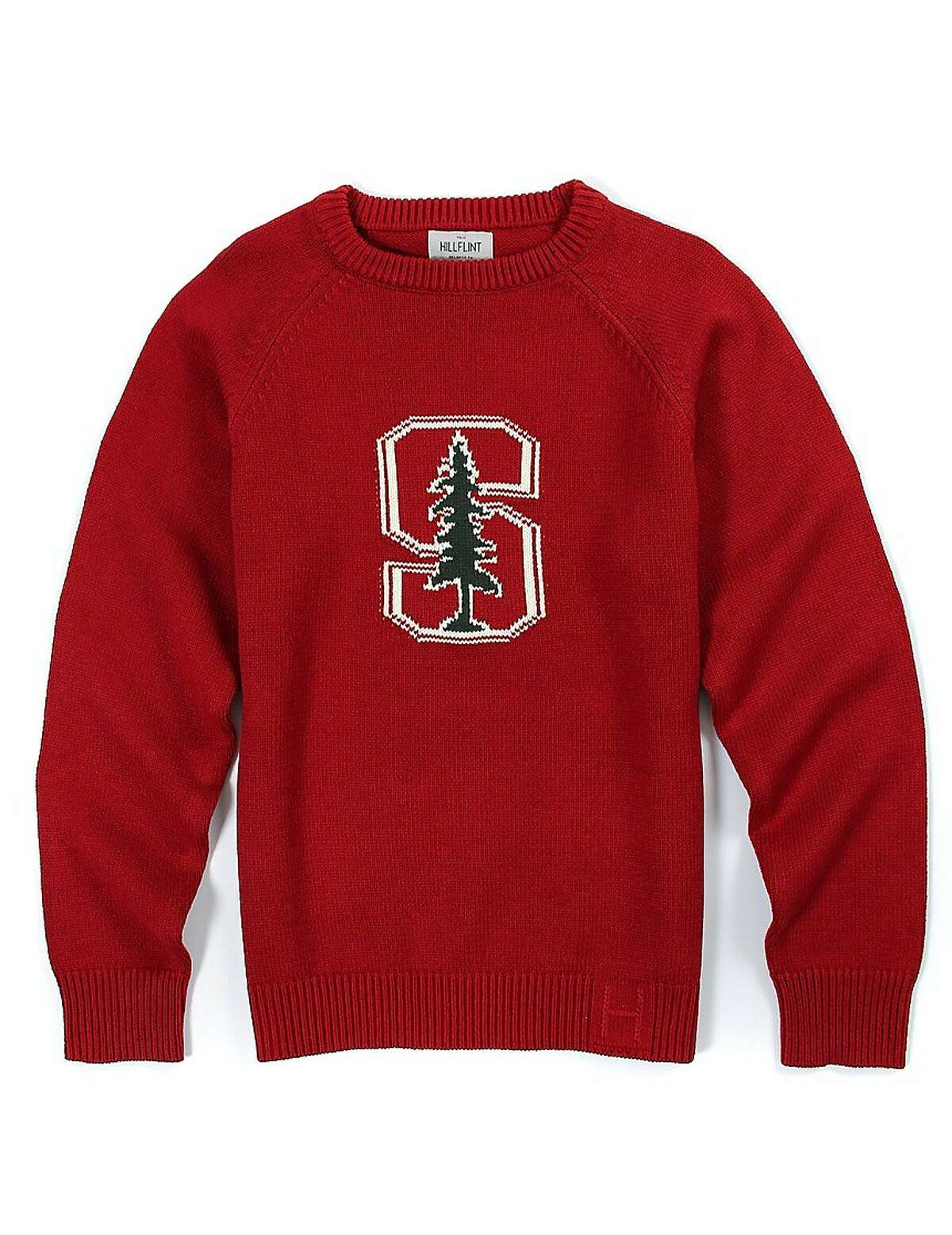 San Francisco company Hillflint manufactures college-themed apparel such as this Stanford Heritage sweater ($89, https://www.hillflint.com).