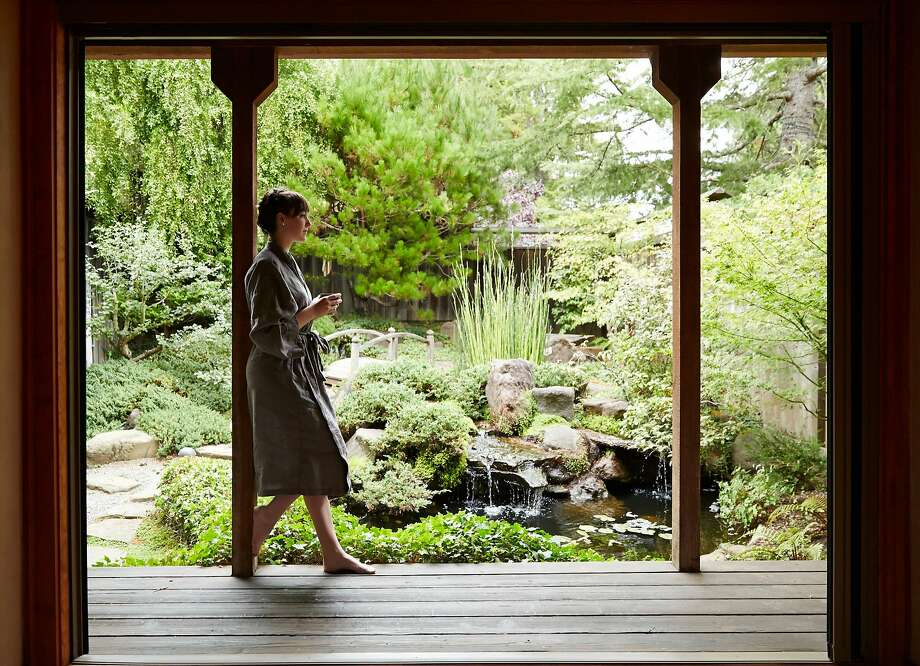 Osmosis Day Spa in Freestone is known for its Cedar Enzyme bath, a fermenting mixture of warm ground cedar and rice bran. The treatment starts with tea in the garden.