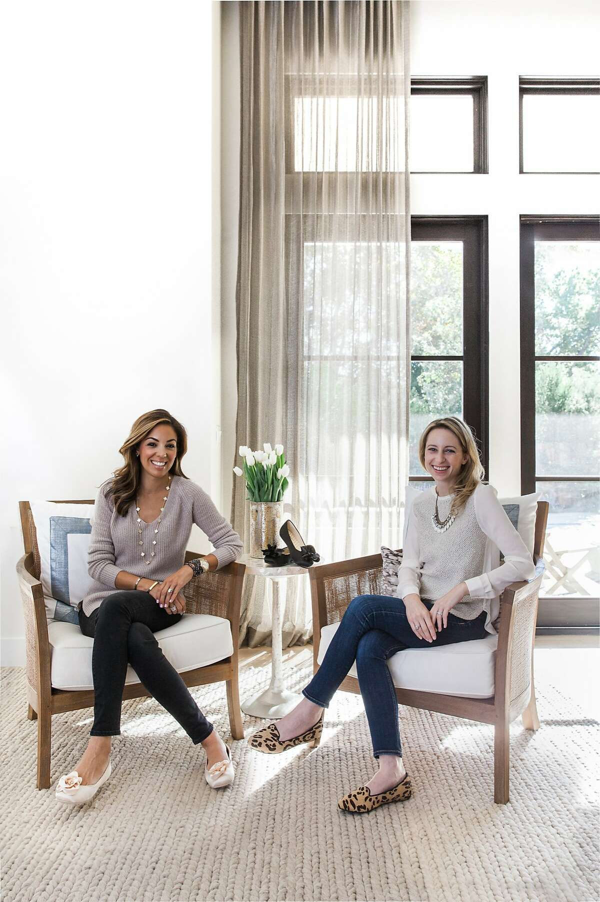 Bianca Gates (left) and Marisa Sharkey are the co-founders of Birdies, a fashionable and luxurious shoe designed for the indoors.