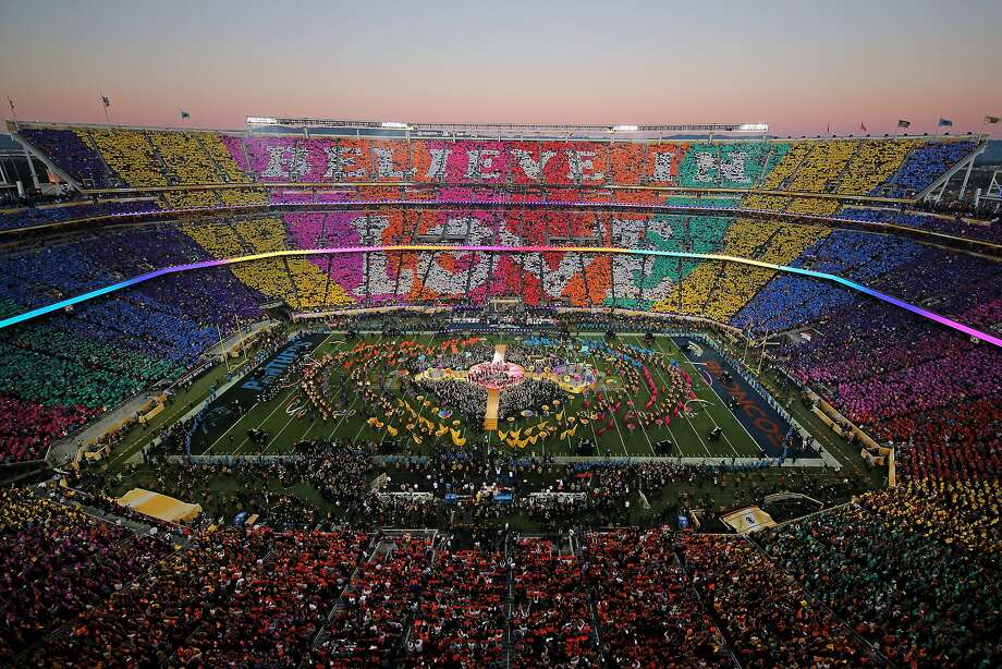 SANTA CLARA, CA - FEBRUARY 07:  Coldplay, Beyonce and Bruno Mars perform during the Pepsi Super Bowl 50 Halftime Show at Levi's Stadium on February 7, 2016 in Santa Clara, California.  (Photo by Ezra Shaw/Getty Images) Photo: Ezra Shaw