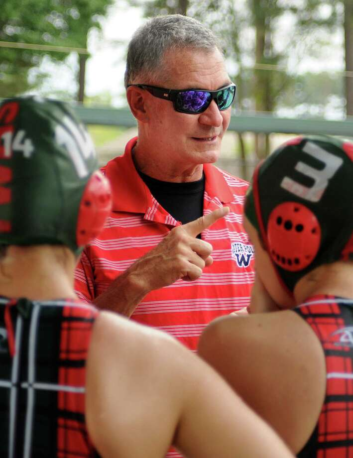 Kent Kirchner coaches The Woodlands' swim team. Photo: David Hopper, For The Chronicle / freelance