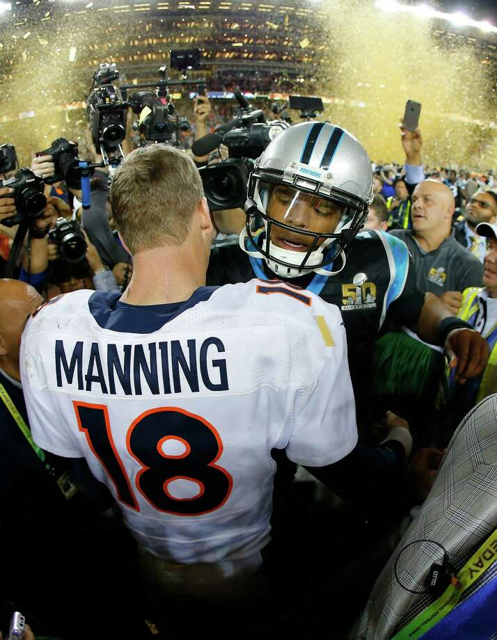 Super bowl breakdown from the couch of slouch times union santa clara ca february 07 peyton manning 18 of the denver broncos voltagebd Choice Image
