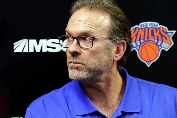 New York Knicks interim head coach Kurt Rambis talks to reporters after a practice in Greenburgh, N.Y., Monday, Feb. 8, 2016. Derek Fisher was fired as New York Knicks coach Monday, with his team having lost five straight and nine of 10 to fall well back in the Eastern Conference playoff race. (AP Photo/Seth Wenig)
