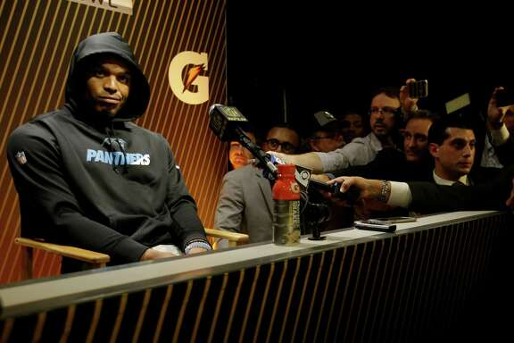 Panthers quarterback Cam Newton groused his way through a postgame session of questions and very short answers after the game didn't go his way.