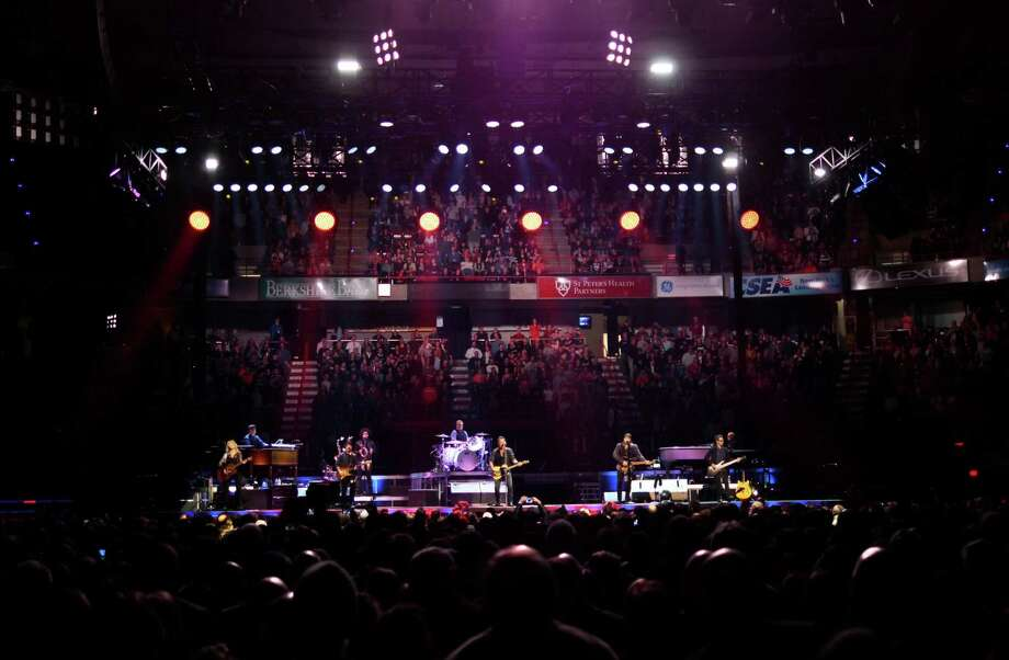 "Bruce Springsteen and The E Street Band perform at the Times Union Center for their tour to promote their remastered release of the double album  ""The River"" on Monday, Feb. 8, 2016, in Albany, N.Y.  (Paul Buckowski / Times Union) Photo: PAUL BUCKOWSKI / 10035325A"