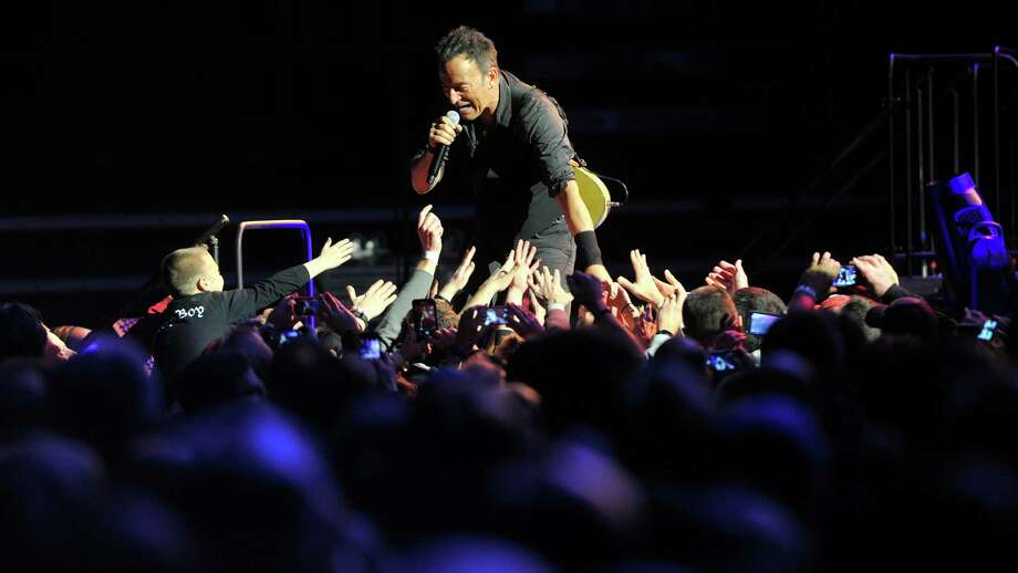 """Bruce Springsteen and The E Street Band perform at the Times Union Center for their tour to promote their remastered release of the double album  """"The River"""" on Monday, Feb. 8, 2016, in Albany, N.Y.  (Paul Buckowski / Times Union) Photo: PAUL BUCKOWSKI / 10035325A"""