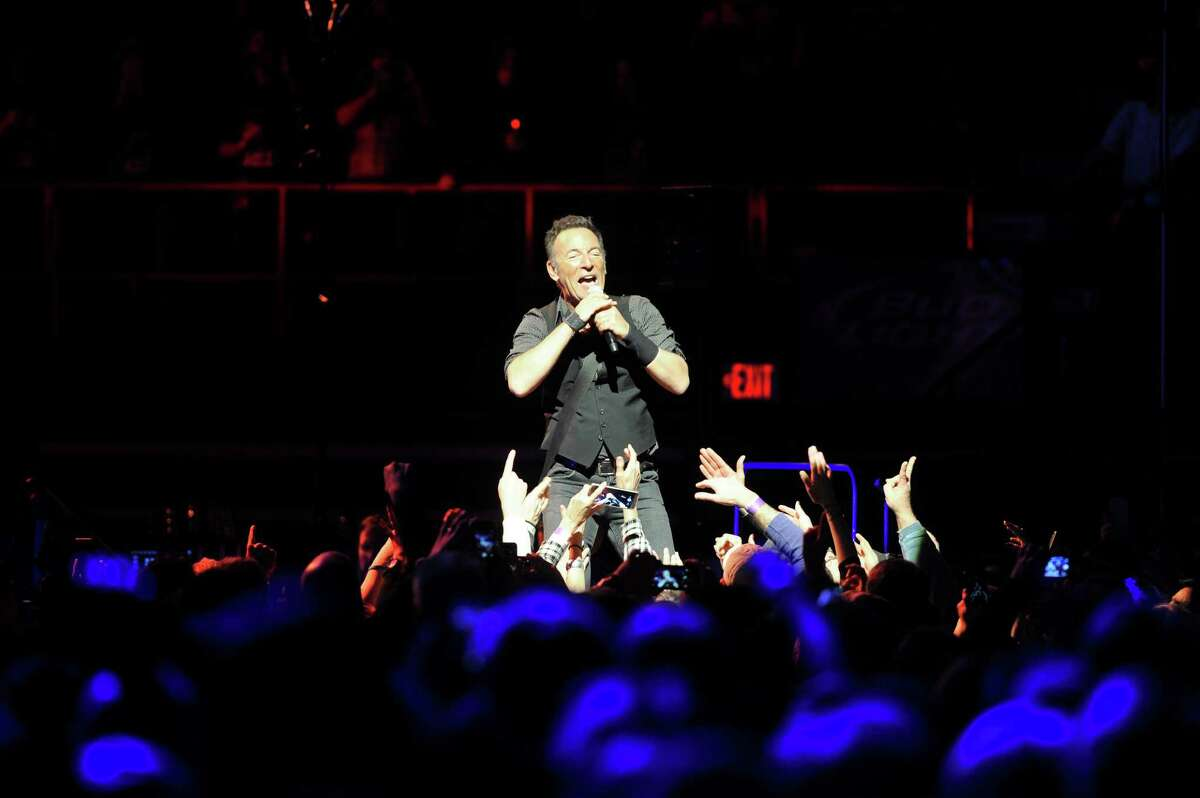 """Bruce Springsteen and The E Street Band perform at the Times Union Center for their tour to promote their remastered release of the double album """"The River"""" on Monday, Feb. 8, 2016, in Albany, N.Y. (Paul Buckowski / Times Union)"""