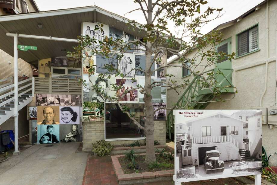 The Sweeney family's home is covered in photographic panels. The photos were archived by the artist's father, Mike Sweeney, a former police photographer. Photo: Courtesy Image / Courtesy Image / Gary Sweeney 2015