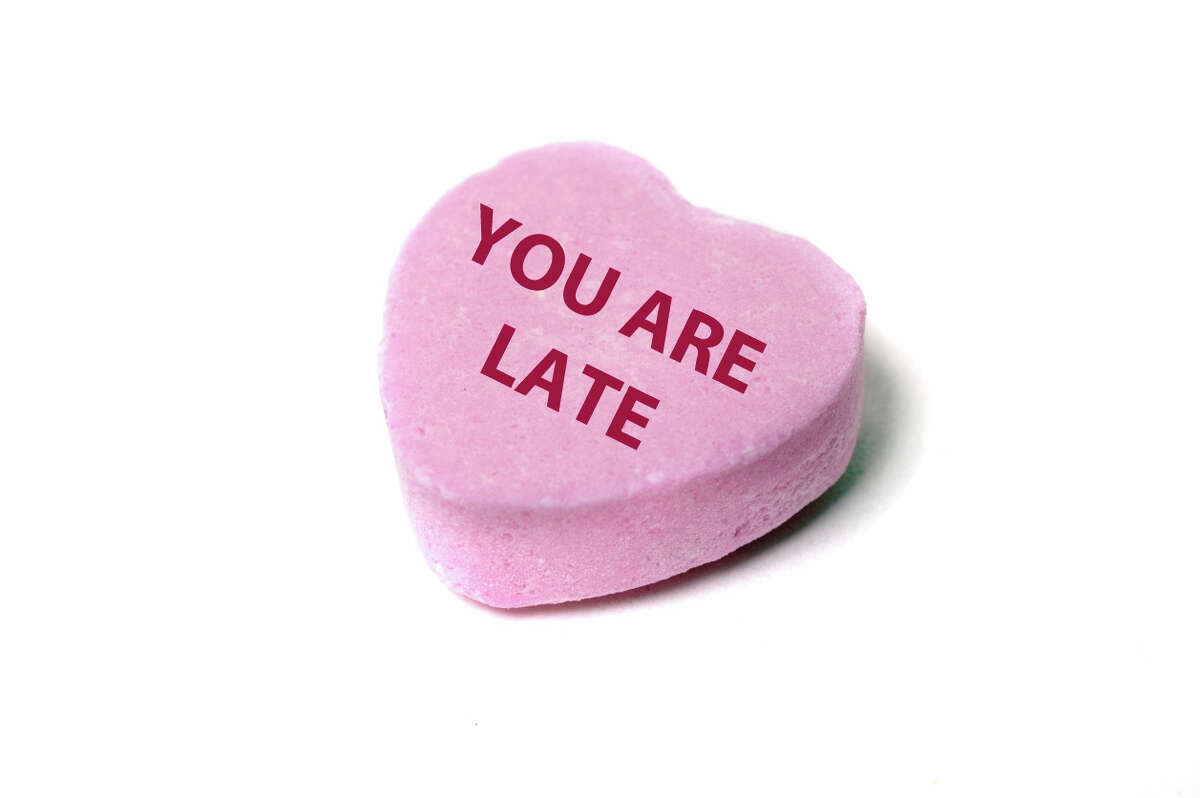 You know what people like to hear on Valentine's Day? Everything they've done wrong. Or that they're pregnant. To keep current, the popular Valentine's candy, Sweethearts, retires phrases each year.Click the gallery to see some of the more notable retired sayings.