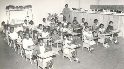 A second grade class at Carver Elementary in the 1950's.