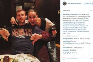 A friendly wager between Spurs' Becky Hammon, Matt Bonner lands him in Denver Broncos gear - Photo