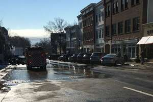 Water-main break on Greenwich Avenue - Photo