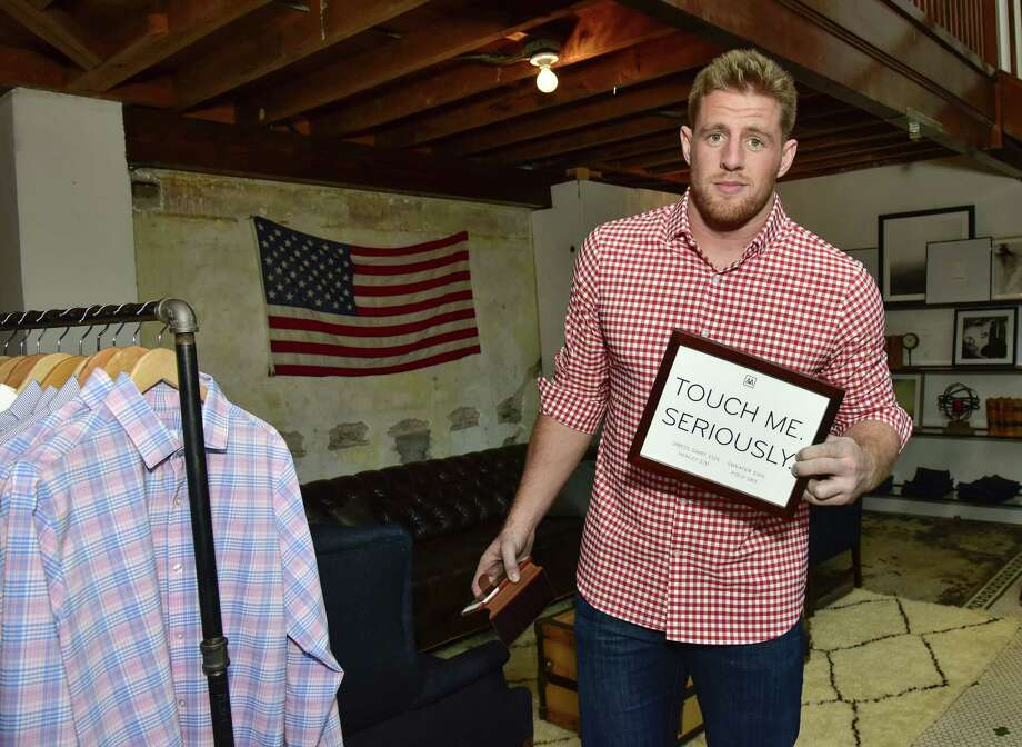 SAN FRANCISCO, CA - FEBRUARY 04:  J.J. Watt attends the J.J. Watt At Mizzen+Main Pop-Up Shop In San Francisco on February 4, 2016 in San Francisco, California.  (Photo by Eugene Gologursky/Getty Images for Mizzen+Main) Photo: Eugene Gologursky, Getty Images For Mizzen+Main / 2016 Getty Images
