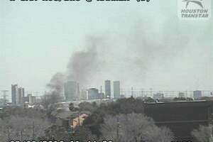3-alarm fire burns at W. Houston warehouse - Photo