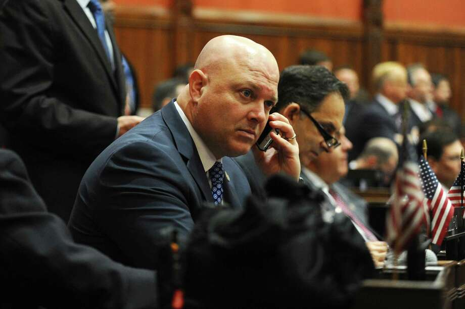 Rep. Mike Bocchino, R-Greenwich, seen at the presentation of the new state budget, will hold office hours in Byram on Feb. 18. Photo: Michael Cummo / Hearst Connecticut Media / Stamford Advocate