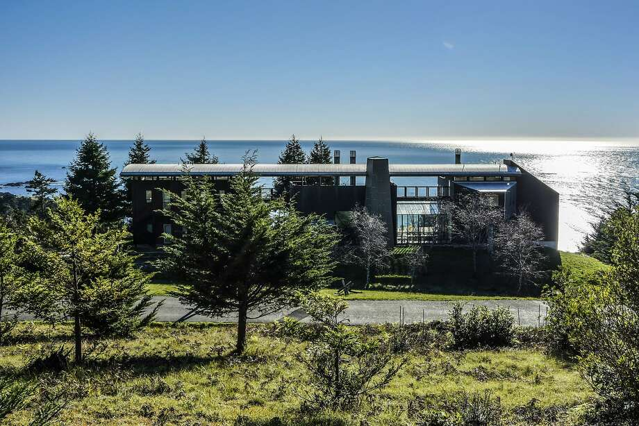 33711 Highway 1 in Stewart's Point features a roughly 4,900-square-foot home on 218 acres of private, coastal land. Photo: Open Homes Photography