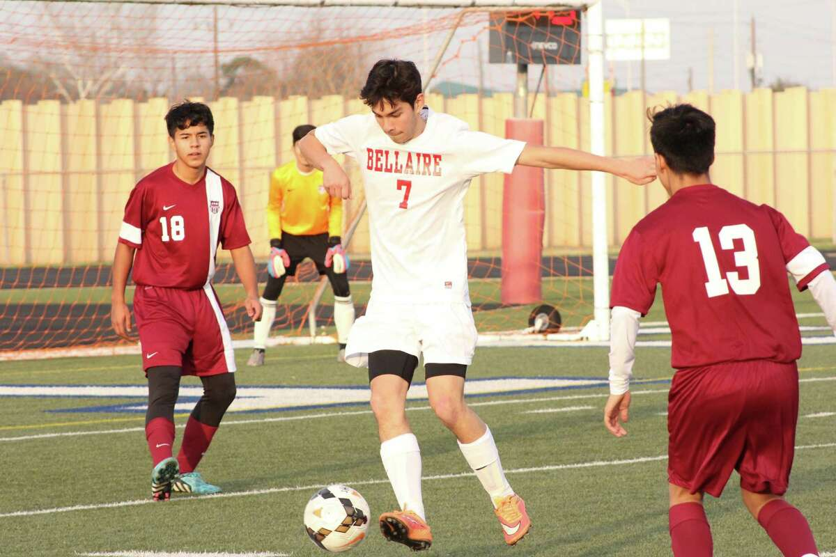 Bellaire's Ben Williams leads the Cards' charge in the midfield.